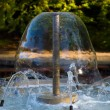 Decorative garden water fountain — Stock Photo