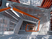 Staircase stairwell — Stock Photo
