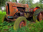 Old vintage tractor digital art — Stock Photo