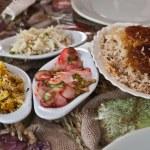 geleneksel zengin Arap yemeği — Stok fotoğraf