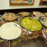 Traditional rich arabian dinner — Stock Photo