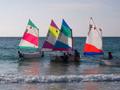 Children learning to sail — Stock Photo