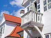 Small wooden balcony — Zdjęcie stockowe