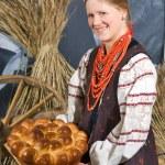 Girl in Ukrainian traditional costume — Stock Photo