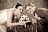 Retro wedding — Stockfoto
