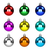 Set christmas decorations isolated on white — Stock Photo