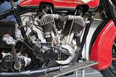 Alte motorrad-motor — Stockfoto