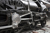 Detail of old steam locomotive — Stock Photo