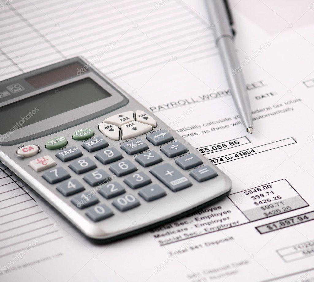 Payroll calculator — Stock Photo © coraldesign #8279351
