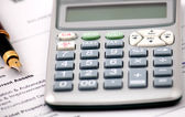 Finance calculator — Stock Photo