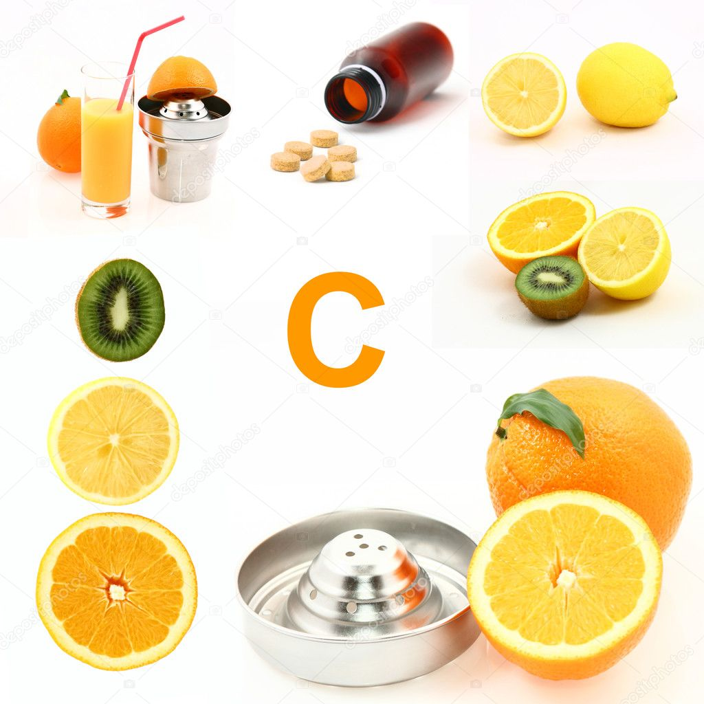 Various sources of vitamin C — Stock Photo #8316644