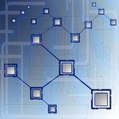 Bbusiness computer network — Stock Vector