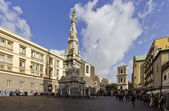 Square of gesu nuovo — Foto Stock