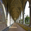 Stock Photo: Cloister of santa chiara