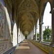 Cloister of santa chiara — Stock Photo