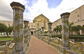 Majolica cloister — Stock Photo