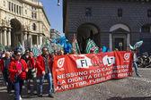 Protestors parade in Naples — Stock Photo