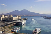 Naples and the sea — Stock Photo