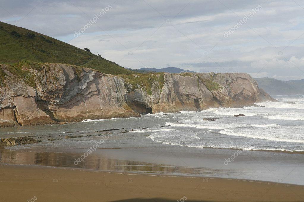 zumaia 海滩和复理石 — 图库照片08valeniker