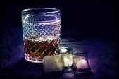 Whiskey and Ice — Stock Photo