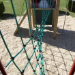Stock Photo: Rope climbing frame