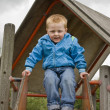 Boy on a Slide — Stock Photo