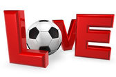 Love Soccer — Stock Photo