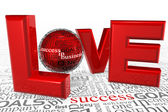 Love for Success — Stock Photo
