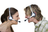 Angry Call Centre — Stock Photo