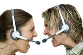 Call Centre Wars — Stock Photo