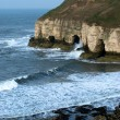 Flamborough Cliffs and waves — Stock Photo #9204173