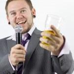 ������, ������: Happy Karaoke Singing Businessman