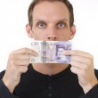 Put Your Money Where Your Mouth Is — Stock Photo