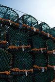 Crab Pots against blue sky — Stock Photo