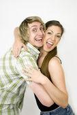 The happy couple — Stock Photo