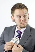 Stelen van geld — Stockfoto