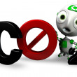 Royalty-Free Stock Photo: Say No to CO2