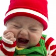 Unhappy Christmas Baby — Stock Photo