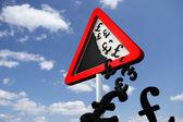 Danger Falling Prices — Stock Photo