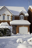 Beautiful Snow House — Stock Photo