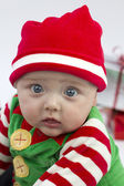 Festive Baby and Presents — Stock Photo