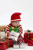 Babys lonely first christmas — Stock Photo
