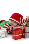 Babys First Christmas Happy — Stock Photo