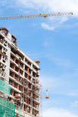 High rise building under construction — Stock Photo