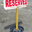 Reserved Parking Signpost — Stock Photo #8539136