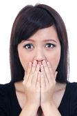 Shocked young woman — Stock Photo