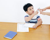 Young Student Counting Fingers — 图库照片