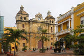 Church of St. Peter Claver - Cartagena Colombia — Stock Photo