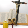 Stock Photo: Jesus Christ and the Bible