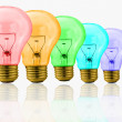 Colored bulbs — Stock Photo